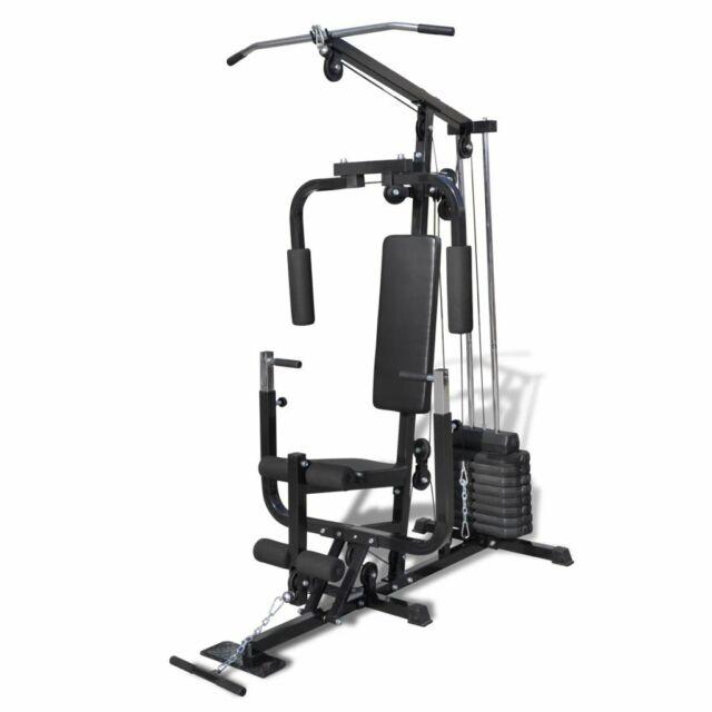vidaXL Multi Station Fitness Home Gym Bench Press Workout Equipment Weightlift