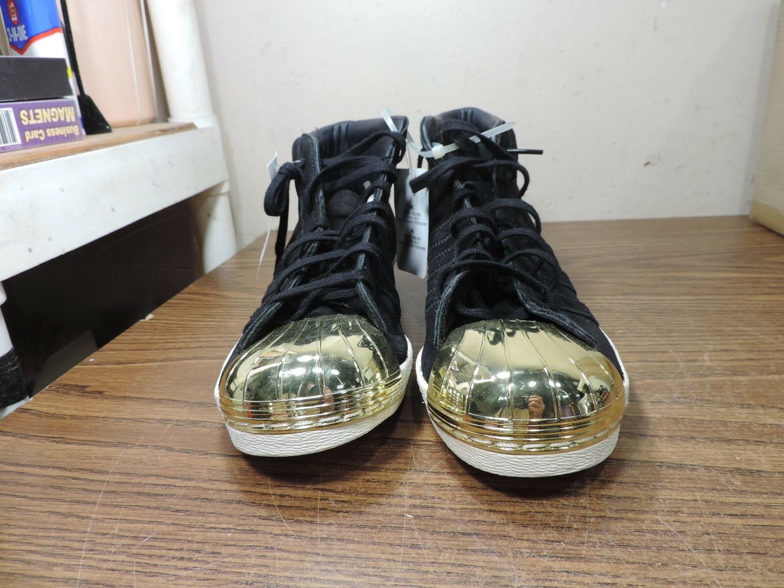 Adidas Originals Pro Model Metal Toe Women's Trainers Black gold US 9