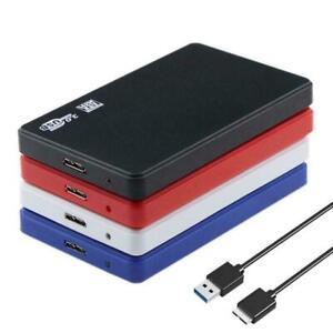 "2TB USB 3.0 Disco duro externo portátil 2.5"" Disco Slim Nuevo Para Laptop I7C9"