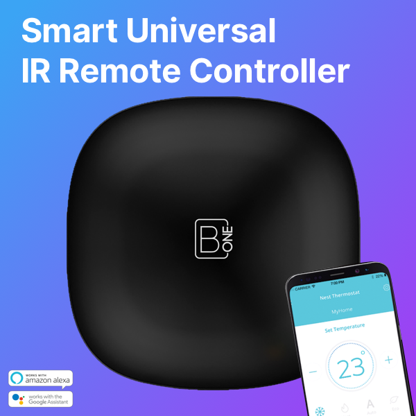B.One Eazy Smart Home Hub Universal Remote Controller for TV, AC, AVR, Media Box