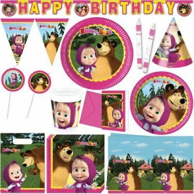 Boys Girls Birthday Party Masha /& The Bear /'Happy Birthday/' Letters Banner