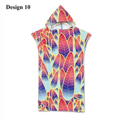 BOHO Mandala Geometric Diamond Leaf Hooded Swim Beach Towel Poncho Changing Robe