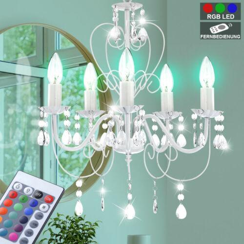 RGB LED Kristall Kronleuchter Esszimmer Farbwechsel Dimmer Decken Hängeleuchte