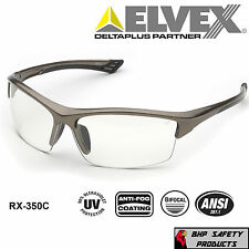 18d463f260 ELVEX SONOMA RX-350C BIFOCAL READER SAFETY GLASSES CLEAR ANTI-FOG LENS (1.0