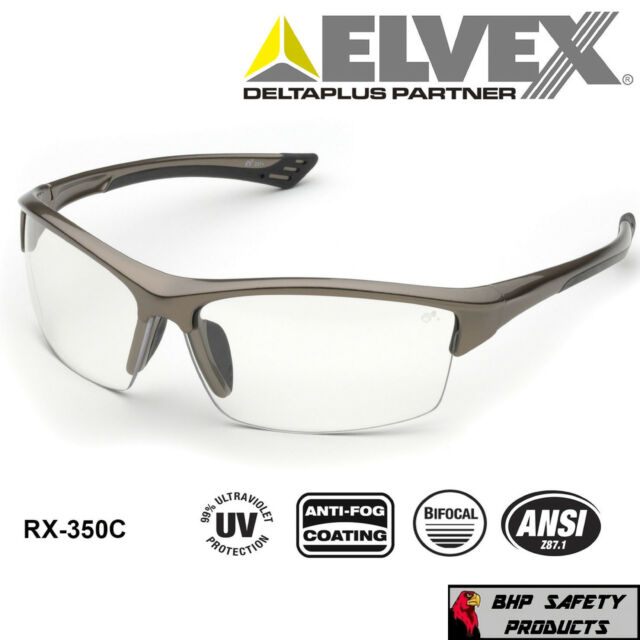 8c7866fe206e Elvex WELRX350C15 Rx-350c-1.5 Diopter Safety Glasses Clear Lens for ...