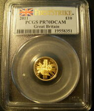Great Britain 2011 Gold 1/10 oz 10 Pounds PCGS PF-70 DCAM First Strike