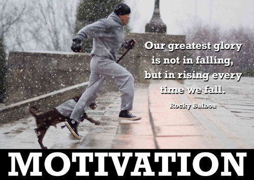 Rocky Balboa 3 Sylvester Stallone Motivation Boxing Greatest Glory Quote Poster