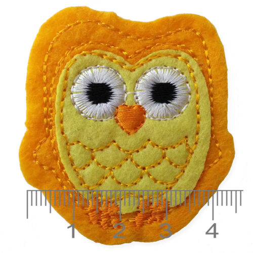 Cute Owls Iron Sew on Appliques Patches Farm Zoo Animals Embroidered Motif DIY