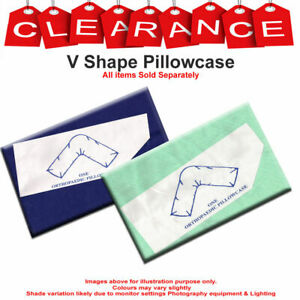 Poly Cotton V Shaped Pillow Case Cover Back /& Neck Support Orthopedic Pregnancy