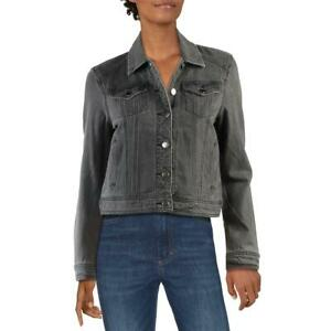 Jak /& Rae Womens Gloria Gray Faded Cropped Jean Denim Jacket Coat S BHFO 3426