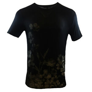 FOREVER-21-Men-039-s-T-shirt-Sheer-Black-Flower-Fashion-SUMMER-SALE