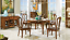 Dinner Room Group Chair Set 4 Chairs Wood Seat Pads Lehn Leather Seat Furniture