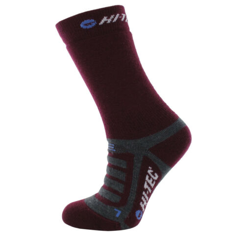 HiTec Trek Midweight Womens Purple Outdoors Walking Long Socks 2 Pack