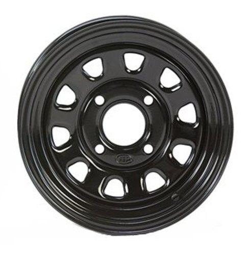 ITP Delta Black Steel Wheel Front Kawasaki 02-13 Prairie 371366