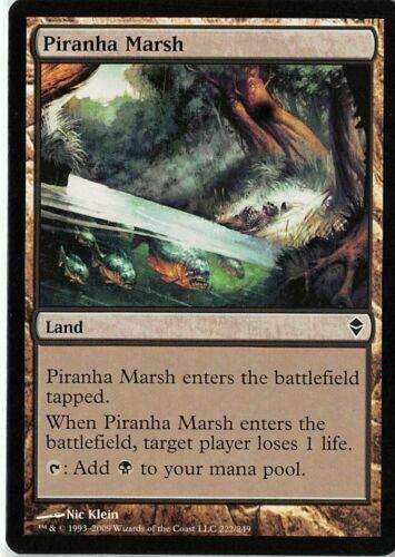LP 4 Piranha Marsh x4 4x mtg Zendikar