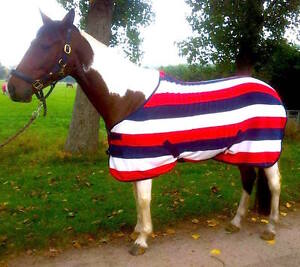 Details About Cwell Equine Horse Cob Pony Show Travel Team Gb Stripe Fleece Rugs 4 9 6