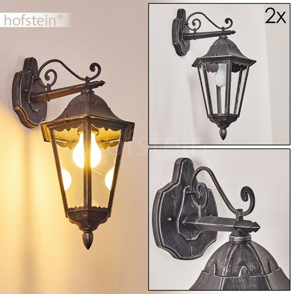 Applique schwarze Luminaire extérieur Lampe de jardin Lampe murale classique Spot