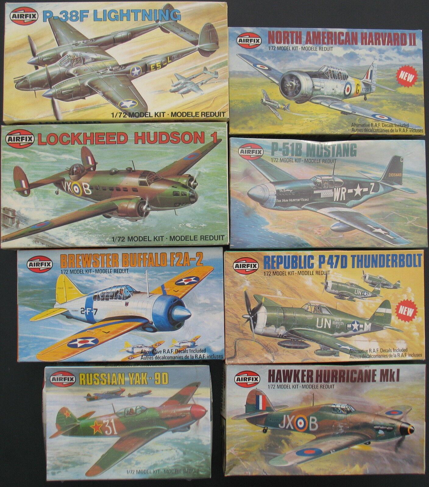 8x AIRFIX Flugzeug Modellbausätze - 1 1 1 72 - Model Kit - Sammlung Konvolut (7)  | Die Königin Der Qualität  d81367