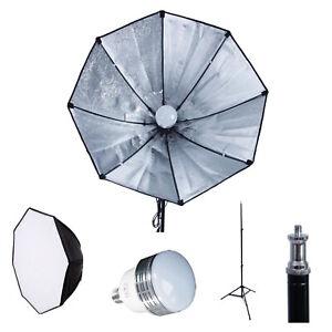 9PCS 28 Octagon Softbox Light Kit Photography Lighting Photo Studio LED//CFL