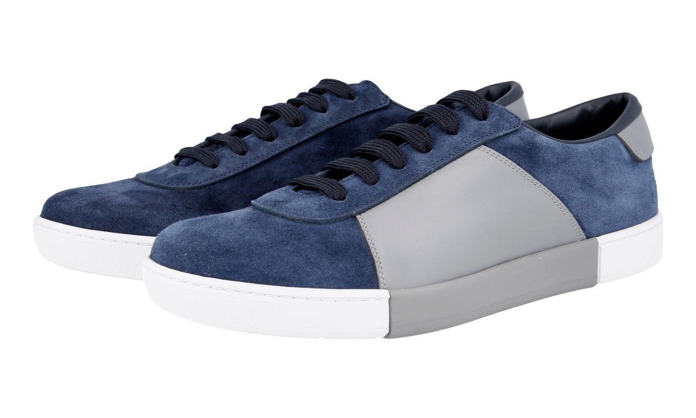 LUXUS PRADA NEW SNEAKER Zapatos 4E3060 BLAU + GRAU NEU NEW PRADA 9,5 43,5 44 ff8a80