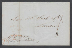US-1845-Stampless-NEW-ORLEANS-LONDON-via-Bech-amp-Kunhardt-Forwarding-Agents