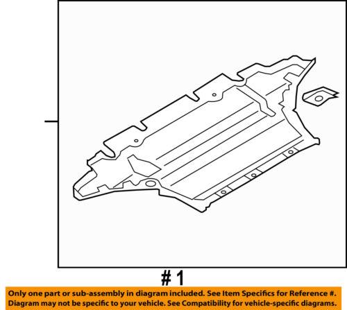 AUDI OEM 10-12 S5 Splash Shield-Under Engine//Radiator Cover 8F0863821