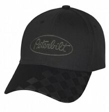 Peterbilt Trucks Motors Black Checkered Bill Trucker Cap/Hat