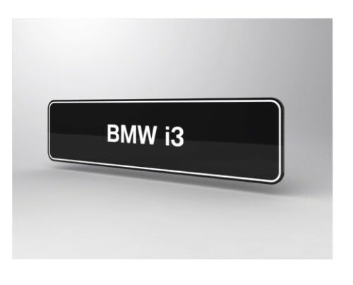 Original bmw i3 auto placa de identificación en vehículos de matrícula tamaño 81852355512 2355512