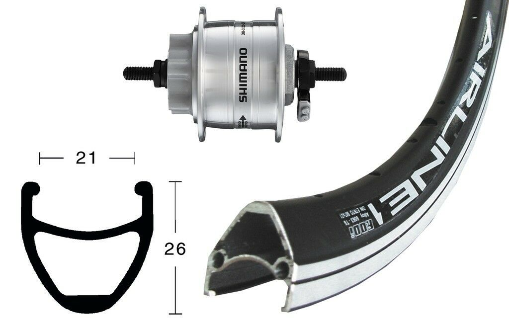 Bike-Parts 28″ Vorderrad Rodi Airline 1 + Nabendynamo  DH-3D32 Disc 6-Loch  lowest whole network