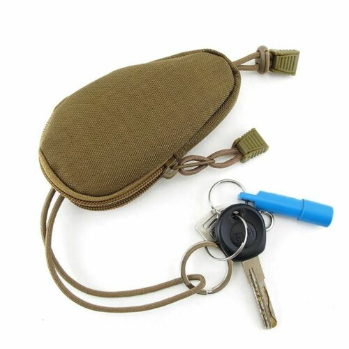 Military Tactical Key Bag Pouch Wallet Chains Case Holder Pocket Bag Molle Purse