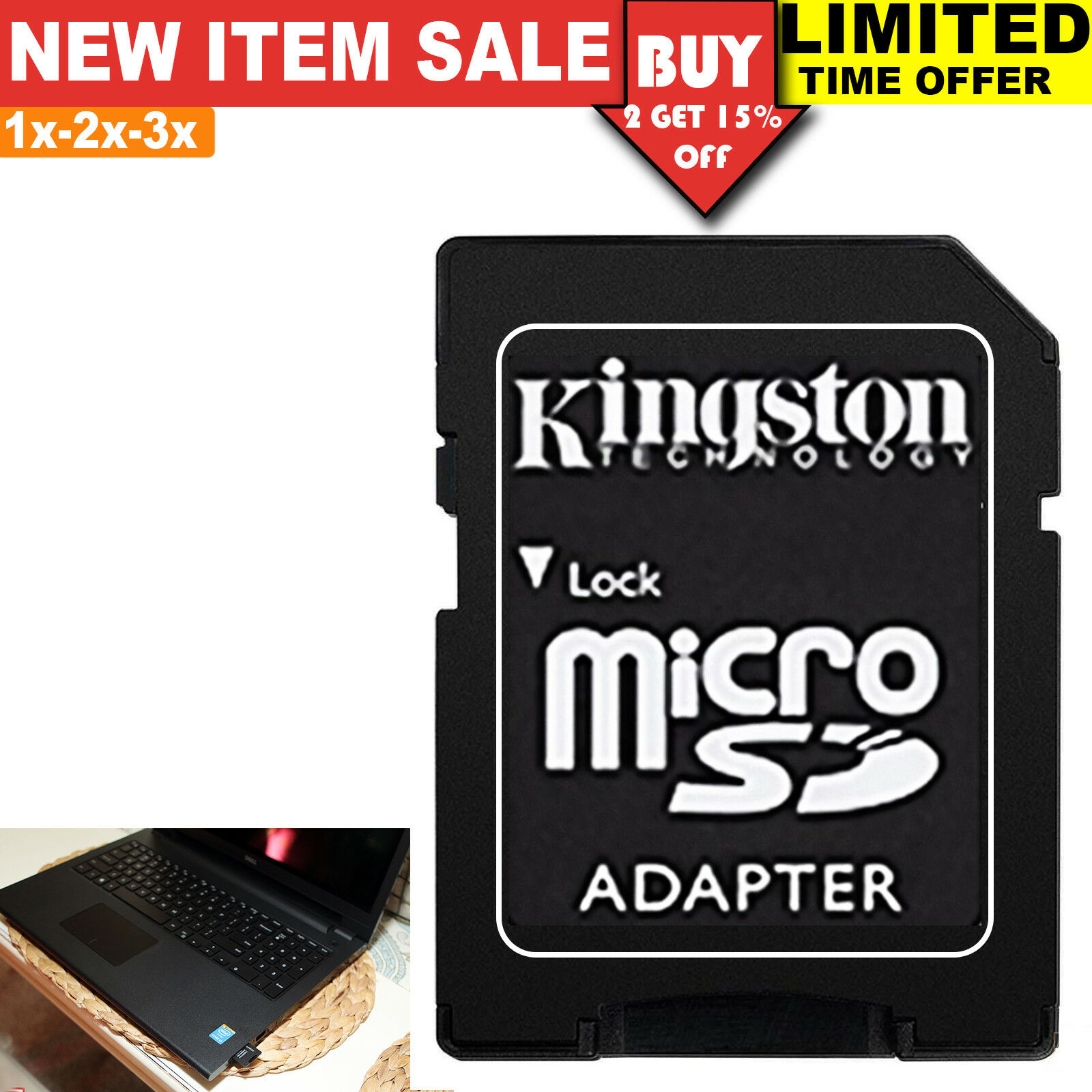 SD Card Reader Adapter TF MicroSD Converter SDHC SDXC Memory Card Adaptor