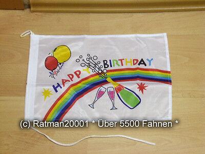 100% QualitäT Fahnen Flagge Happy Birthday Geburtstag Bootsfahne Tischwimpel - 27 X 40 Cm Auswahlmaterialien