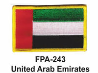 2-1/2'' X 3-1/2 United Arab Emirates Flag Embroidered Patch