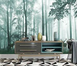 3D Dream Forest Elk Wallpaper Wall Murals Removable Wallpaper 276