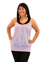 Lavender Lily Purple Womans Blouse Sleeveless 1x 2x 3x