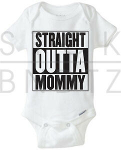 d99fd2857 Details about STRAIGHT OUTTA MOMMY COMPTON HIPHOP BABY T-SHIRT FUNNY CUTE  SHOWER GERBER ONESIE