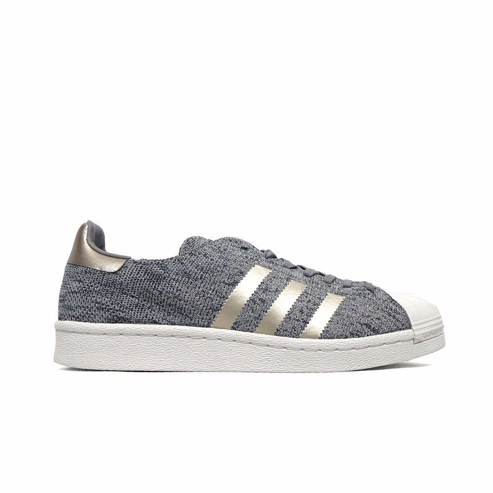 BB8973 Adidas Superstar Primeknit Boost (Light Solid Grey/Charcoal) Men's Shoes