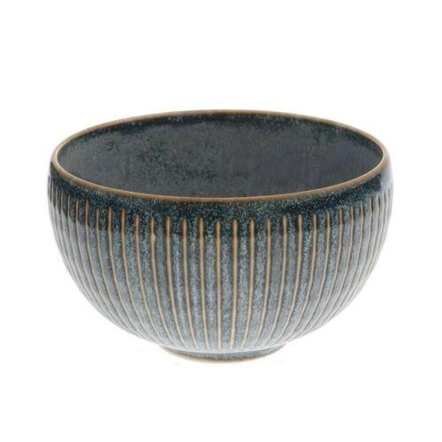 """Japanese Rice Soup Bowl 5-3//8/""""D Porcelain Indigo Fog Horsetails Made in Japan"""