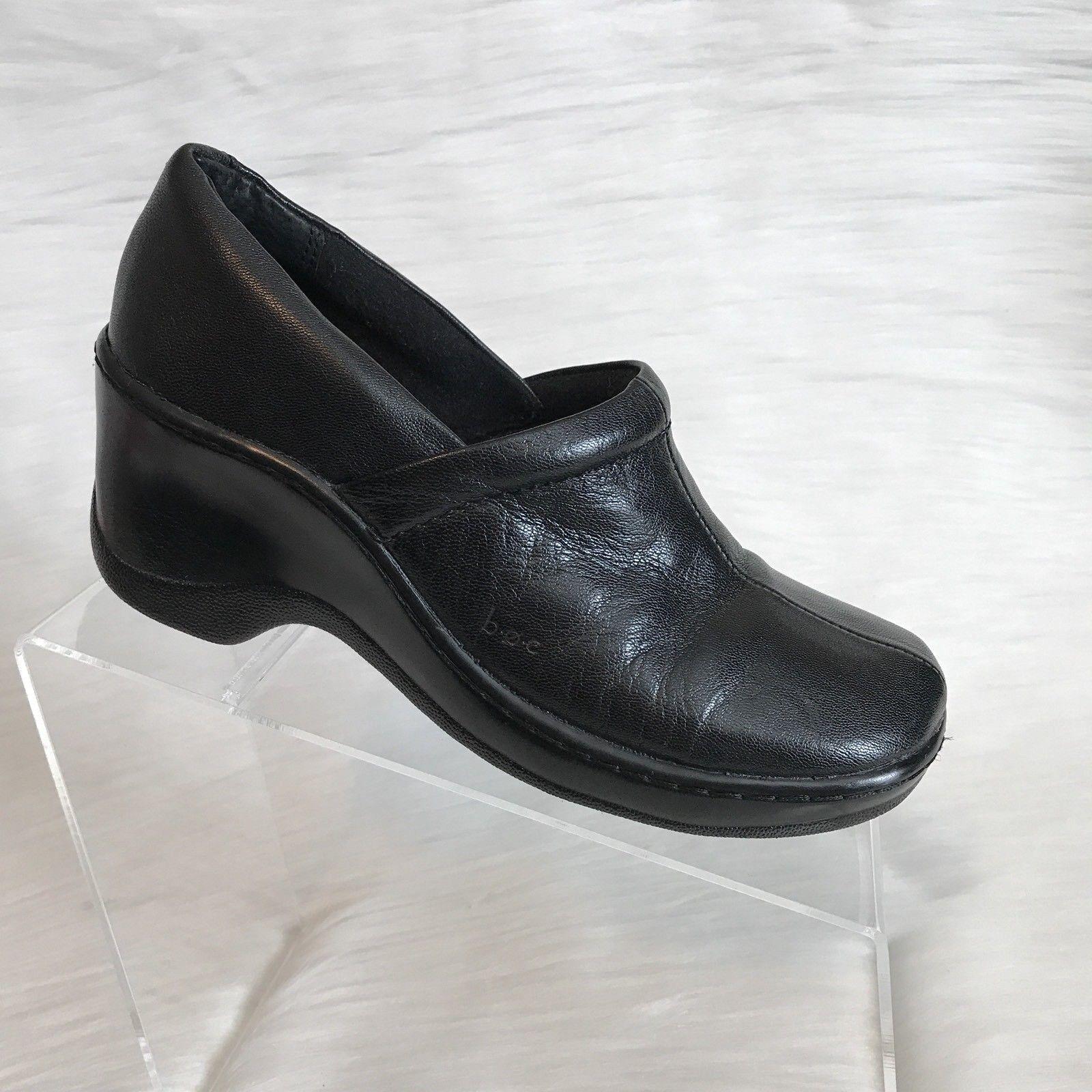 Boc by Born women's clogs black leather casual comfort shoes size 7.5 M