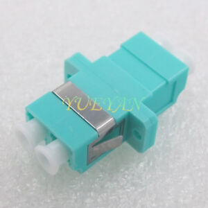 100pcs-Optical-Fiber-Connector-LC-Duplex-10-million-OM3-Coupler-Adapter-Flange