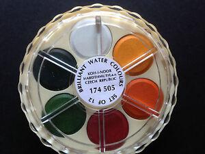 Koh-I-Noor Artists Watercolour Discs Brilliant Colours - 12 Colours Set 8593540005601