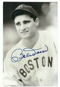 Autographed-BOBBY-DOERR-BxW-Rowe-Post-Card-With-COA