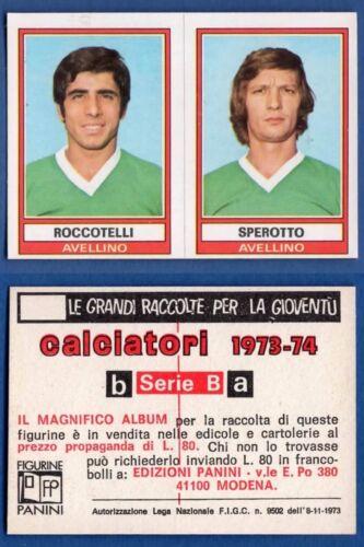 FIGURINA CALCIATORI PANINI 1973//74 NUOVA//NEW N.409 ROCCOTELLI//. AVELLINO
