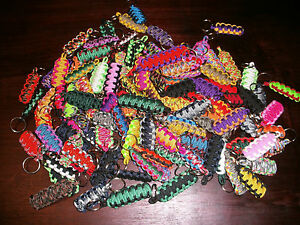 Paracord-Survival-King-Cobra-Key-Chain-Lot-of-5
