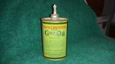 Winchester Green Gun Oil Tin Can Handy Oiler Gas Sign Bottle Shell Box