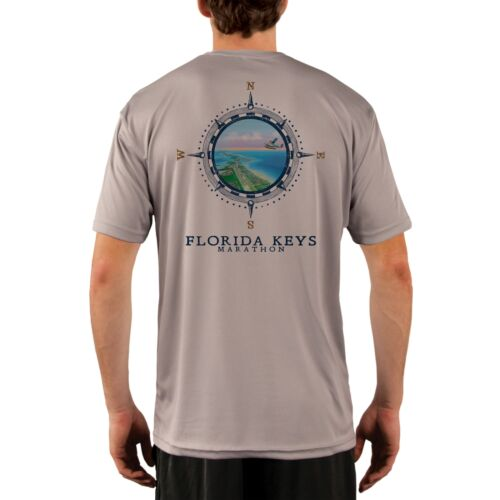 Compass Vintage Florida Keys Men/'s UPF 50 Short Sleeve T-shirt