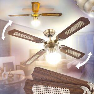 Ventilatore Soffitto Camera Stanza Da Letto Lampada Cavo Interruttore A Strappo Ebay