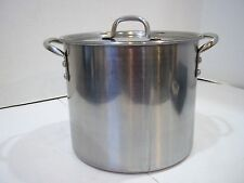 8 Qt Stainless Steel Stock Pot Lid Dutch Oven Pan Cookware Soup Canning Freezing