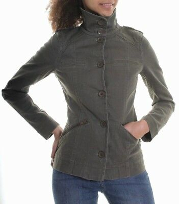 Womens Attentif Blazer Ladies Black Military Jacket Buttons Size 8 10 12 14