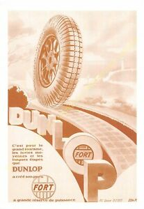Sepia Postcard Ads Advertising Automobile Dunlop Edit 3615 PUB24